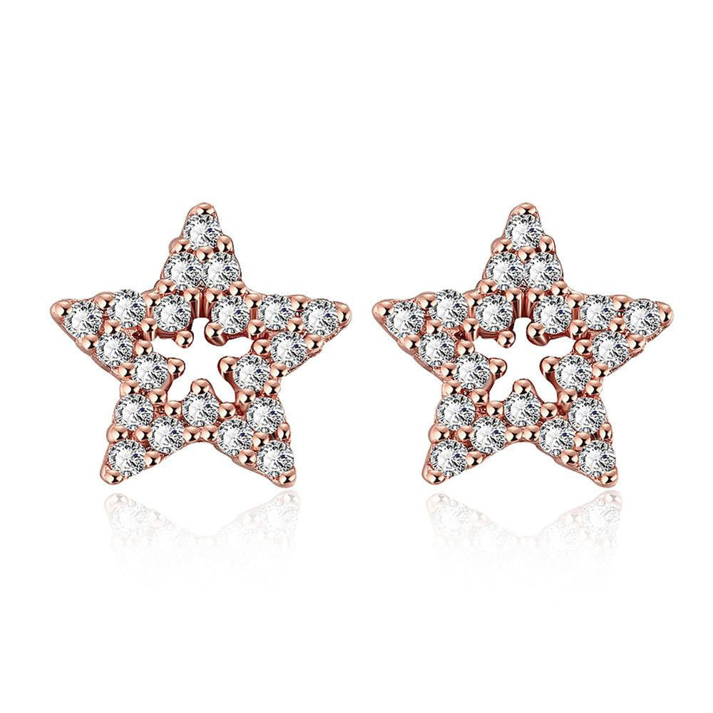 Rose Gold Plated Stars in the Sky Studs