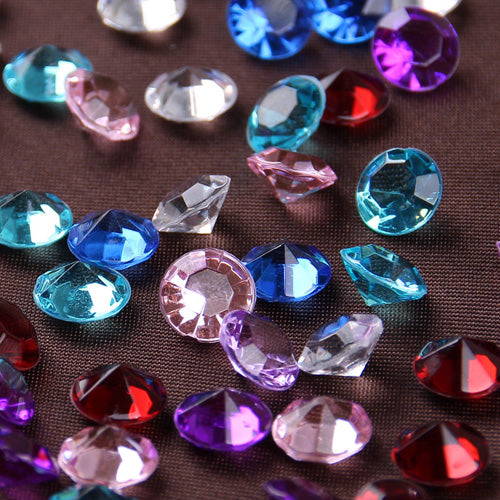 500pcs 8mm Acrylic Crystals Diamond Confetti Wedding Table Scatters Decoration