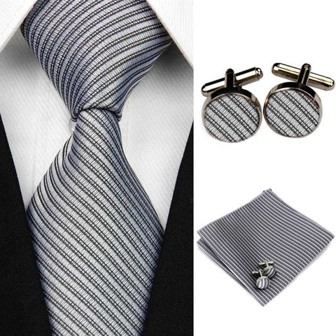 Handkerchief, tie and Cufflinks contemporary style