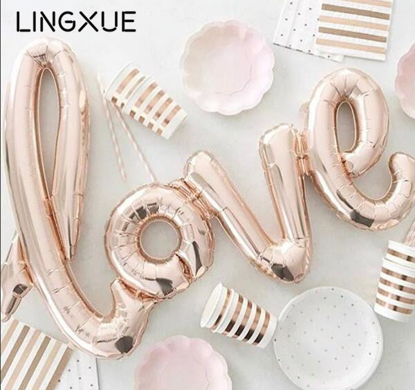 Large size 108x65cm giant LOVE foil balloon Wedding or party decoration