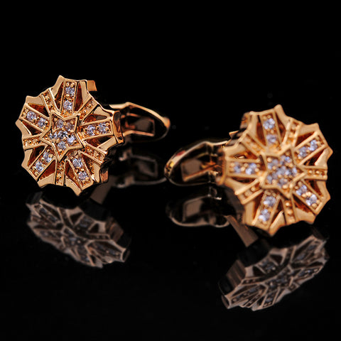 Gold Elegant Cufflinks High Quality