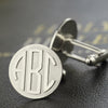 Personalized Monogram Cufflinks Engraved