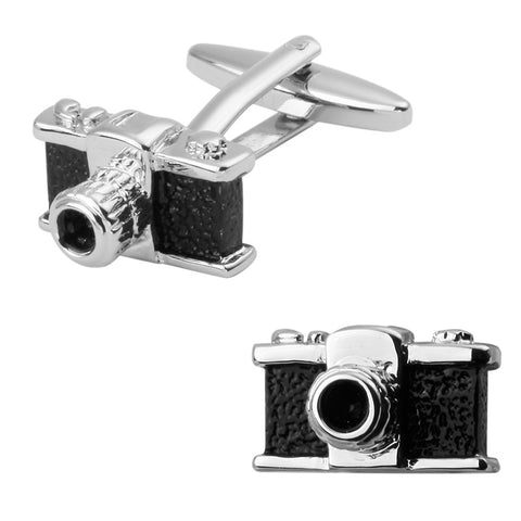 Black camera novelty cufflinks photographer