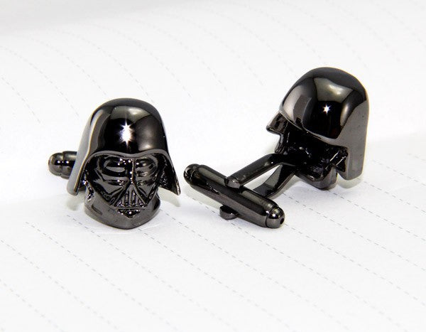 Darth Vader Cuff Links - stainless steel - 1 pair