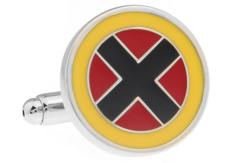 Superheroes X-man Cuff Links - stainless steel - 1 pair - BUY ONE GET 2 FREE - MIX AND MATCH
