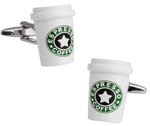 Novelty Cufflinks Espresso Coffee Cup