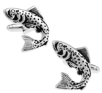 Fish Cufflinks Novelty silver