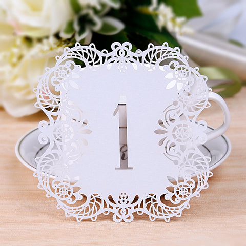 10 Pieces Rustic Wedding Table Number, Vintage Wedding Decoration