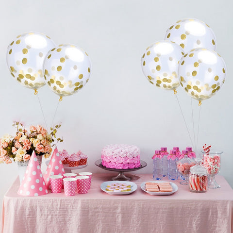 10pcs 12inch Confetti Balloons Romantic Wedding Decoration
