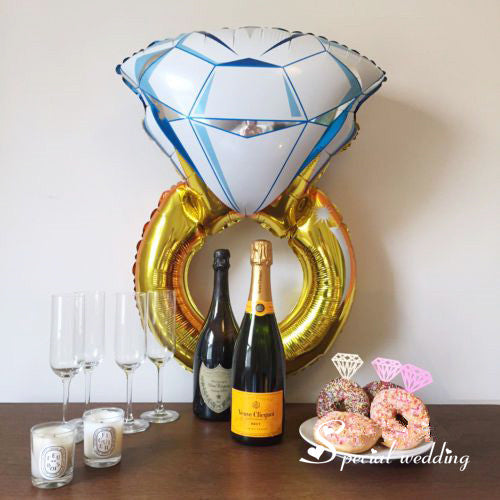 Wedding Decoration Proposal or Engagement Ring Foil Balloon