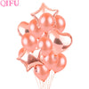 Rose Gold Foil or latex Balloons Wedding or Engagement party decoration different shapes