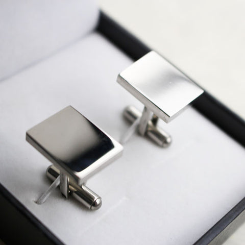 Cufflinks jewelry contemporary stainless steel rectangle shape
