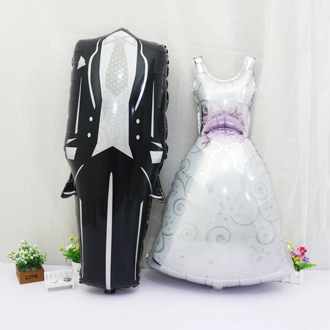 Groom Bride Balloon Wedding Decoration Aluminum Foil
