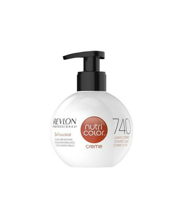 Revlon Nutri Color Creme 740 Light Copper 270ml - Kokoro MX