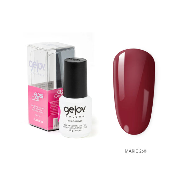 Gloss Over Gel De Color Para Uñas Gelov Colour Marie 268 - Kokoro MX
