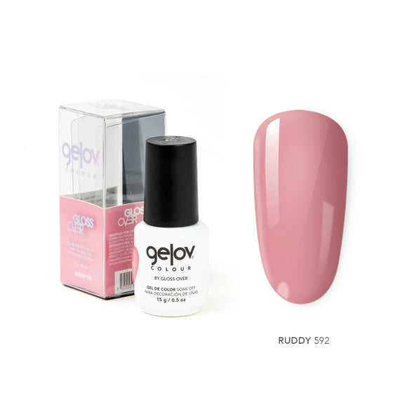 Gloss Over Gel De Color Para Uñas Gelov Colour Ruddy 592 - Kokoro MX