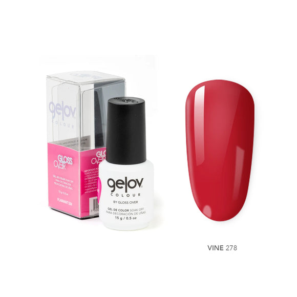 Gloss Over Gel De Color Para Uñas Gelov Colour Vine 278 - Kokoro MX