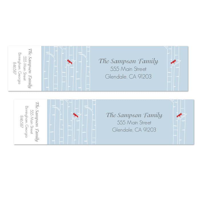 Birch Tree Printable Wrap Address Labels
