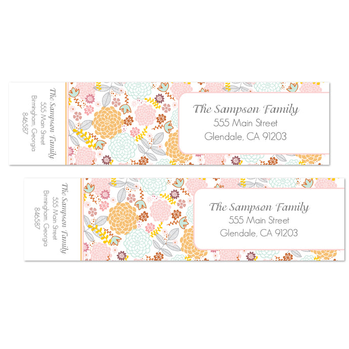 Garden Bright Floral Labels