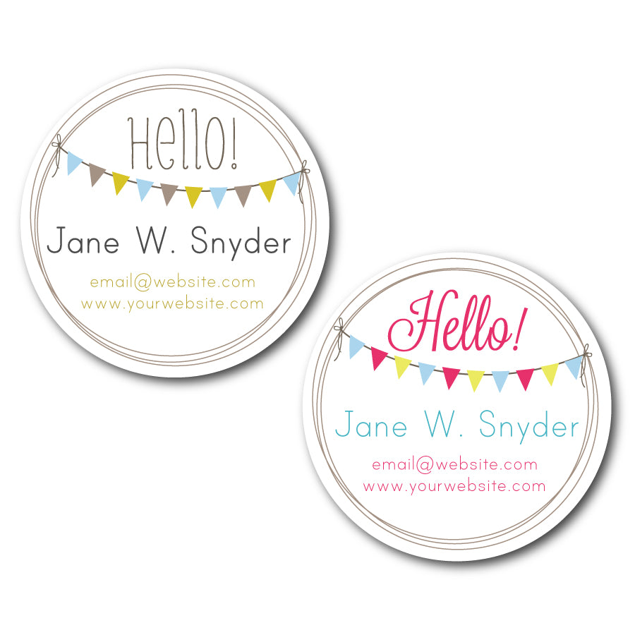 Bunting Circle Business Cards