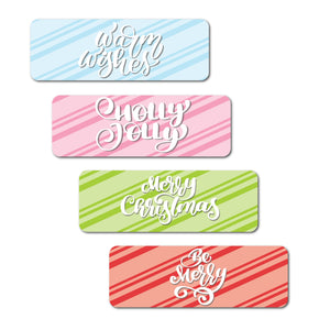 Candy Striped Holiday Stickers