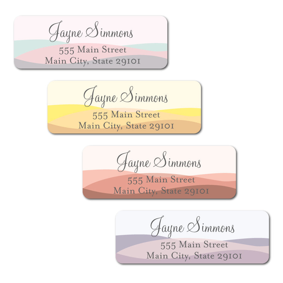 Colorblock Rectangle Labels