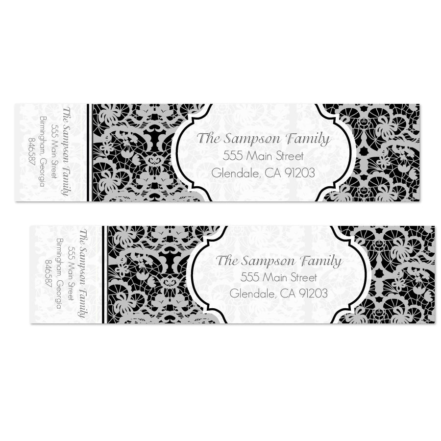 Elegant White Lace Wrap Labels - Printable