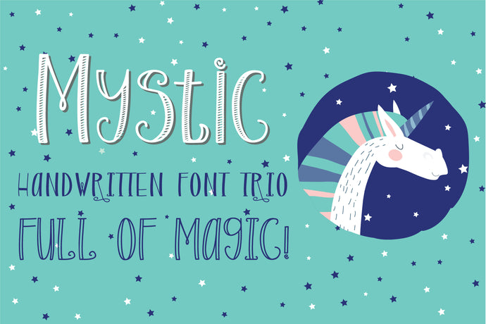 Mystic - Magical Handwritten Font Trio