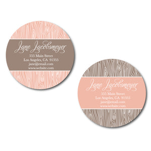 Faux Bois Circle Cards