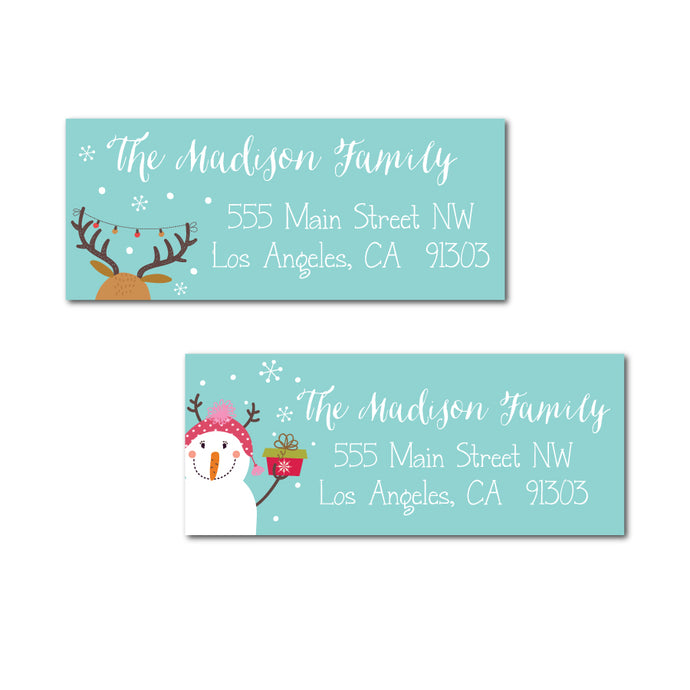 Fun Critters Holiday Labels
