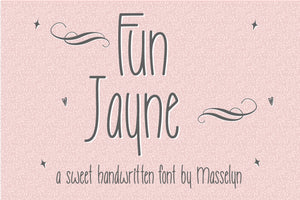 Fun Jayne - Sweet Handwritten Font