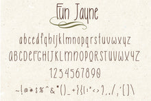 Load image into Gallery viewer, Fun Jayne - Sweet Handwritten Font