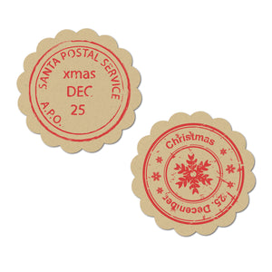 Holiday Kraft Stickers