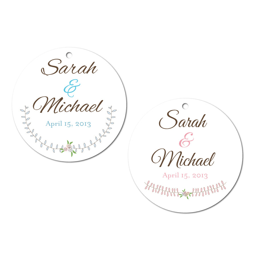 Laurel Wedding Tags