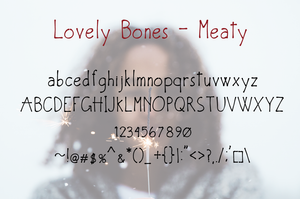 Lovely Bones Multi Weight Font