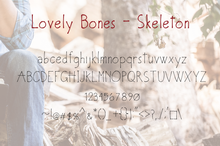 Load image into Gallery viewer, Lovely Bones Multi Weight Font