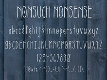 Load image into Gallery viewer, Nonsuch Nonsense - Quirky Handwritten Font