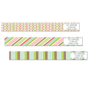 Party Fun Skinny Wrap Labels