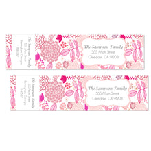 Load image into Gallery viewer, Bright Pink Floral Wrap Address Labels