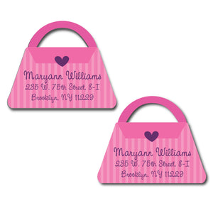 Pink Purse Diecut Labels