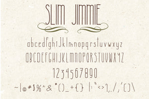 Slim Jimmie, Quirky Handwritten Font