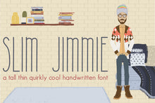 Load image into Gallery viewer, Slim Jimmie, Quirky Handwritten Font