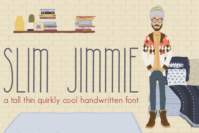 Slim Jimmie, Tall Handwritten Font