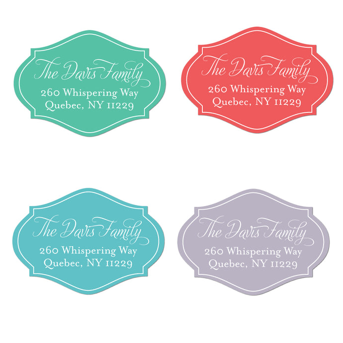 Unique Bright DieCut Labels