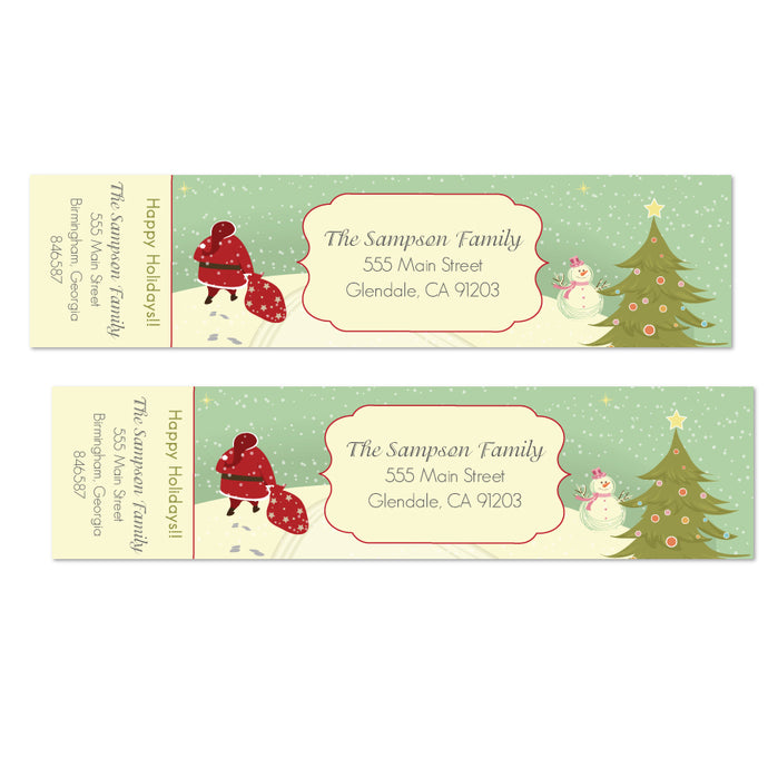 Vintage Santa Christmas Labels