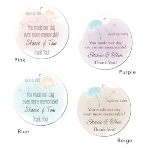 Watercolor Wedding Tags