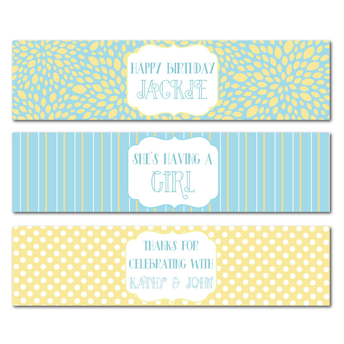 Bright Summer Wrap Water Bottle Labels