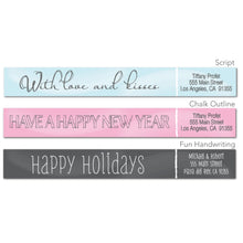 Load image into Gallery viewer, Chalk Design Skinny Wrap Address Labels