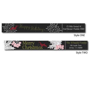 Holiday Chalk Skinny Wrap Labels