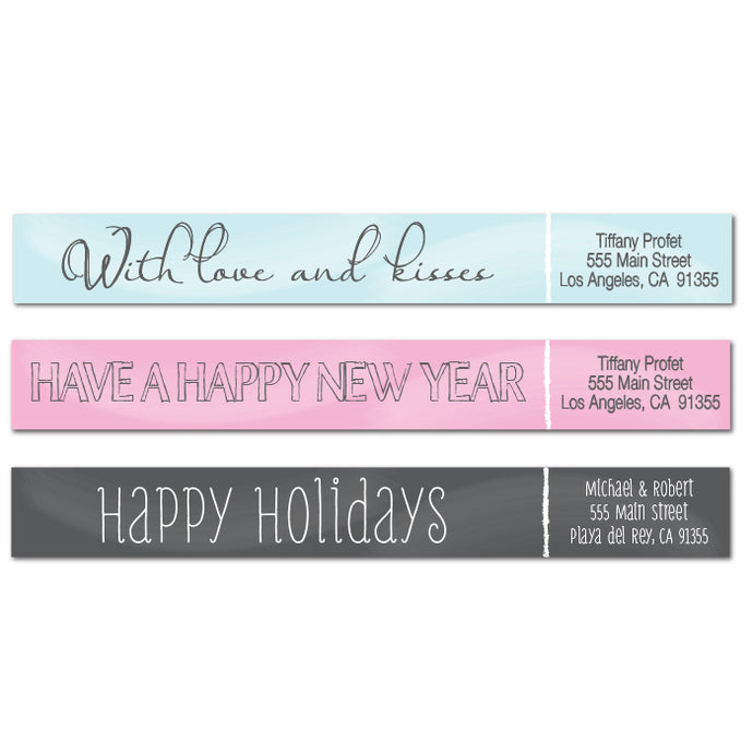 Chalk Design Skinny Wrap Address Labels